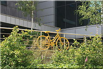SK3587 : Yellow bikes promoting 'Le Grand Départ': Electric Works by Graham Hogg