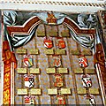 SU1084 : The St John Triptych (part), Church of St Mary, Lydiard Tregoze (1) by Brian Robert Marshall