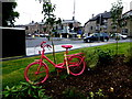 H8745 : Pink bicycle, The Mall West, Armagh by Kenneth  Allen