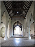 TL9925 : St. Martin's Church, West Stockwell Street, CO1 - nave by Mike Quinn