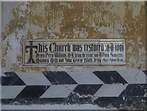 TL9925 : St. Martin's Church, West Stockwell Street, CO1 - plaque in the south aisle by Mike Quinn