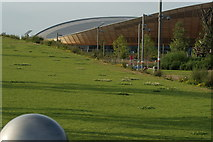 TQ3785 : View of the Velodrome from Queen Elizabeth Olympic Park #4 by Robert Lamb