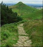 NZ5812 : Man made path to Roseberry topping. by steven ruffles