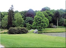 ST7733 : The grassed bridge over the inlet at Stourhead by John Firth
