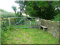 SE0428 : Gate and stile on Halifax FP741 by Humphrey Bolton