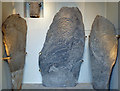 NJ1837 : Pictish stones at Inveravon Church by Walter Baxter