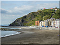 SN5882 : Beach and Cliff Lift, Aberystwyth, Ceredigion by Christine Matthews