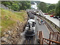 SH6541 : Passing trains at Tan-y-Bwlch by Richard Hoare