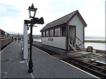 SH5738 : Porthmadog Harbour station signal box by Richard Hoare