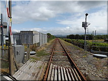 SH5639 : The currently defunct line from Pwllheli (eastwards) by Richard Hoare