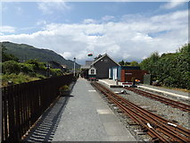 SH5639 : Welsh Highland Heritage railway station at  Porthmadog (viewed westwards) by Richard Hoare