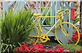 SK2798 : Yellow bike in Stocksbridge by Dave Pickersgill