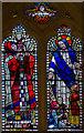 TQ8010 : Stained glass window, St Luke's United Reformed church by Julian P Guffogg
