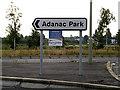 SU3715 : Adanac Park sign on Adanac Drive by Adrian Cable