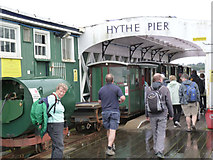SU4208 : Hythe Pier Railway rolling stock by Alan Murray-Rust