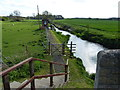 TF0615 : Steps and path to Manthorpe Gauging Station by Mat Fascione