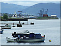 NS3174 : Port Glasgow waterfront by Thomas Nugent