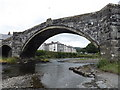 SH7961 : Under the arch of Pont Fawr by Richard Hoare
