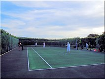 TQ4312 : Tennis Court at Ringmer Park by Paul Gillett