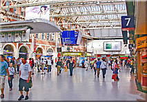 TQ3179 : Waterloo Station concourse, 2006 by Ben Brooksbank