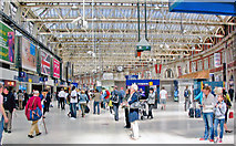 TQ3179 : Waterloo Station concourse, 2011 by Ben Brooksbank