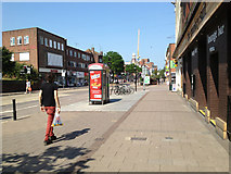 SX9292 : A pair of phone boxes on Sidwell Street, Exeter by Robin Stott