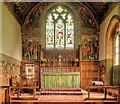 SE4655 : St John's Church, Altar and East Window by David Dixon