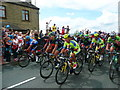 SE1019 : The Tour de France at Blackley - the front of the peloton by Humphrey Bolton