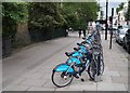 TQ2879 : 'Borris' bikes - Eaton Square by Given Up