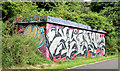 J3470 : Graffiti, Lagan towpath, Stranmillis, Belfast (July 2014) by Albert Bridge