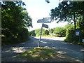 TQ5560 : Signpost near Porter's Farm by Marathon