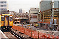 TQ3079 : Waterloo Station during construction of International station, 1990 by Ben Brooksbank