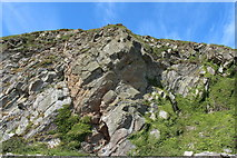 NX4235 : Rock Face at Port Castle Bay by Billy McCrorie