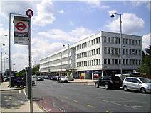 TQ1090 : Outside Northwood Hills Station (S) by Des Blenkinsopp