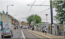 TQ3266 : West Croydon: Croydon Tramlink stop on Station Road by Ben Brooksbank