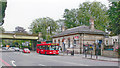 TQ3273 : Dulwich: A205 South Circular Road (Thurlow Park Road) at West Dulwich Station by Ben Brooksbank