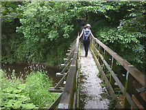NY5525 : Footbridge over the Leith at Melkinthorpe by Karl and Ali