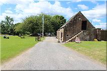 NY0265 : Caerlaverock Castle Ticket Office by Billy McCrorie