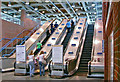 TQ3982 : West Ham (High Level) Station, escalators from Low Level platforms by Ben Brooksbank