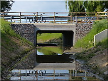 SK5501 : New bridge across Lubbesthorpe Brook by Mat Fascione