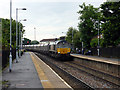 NZ4249 : Empty? coal wagons being hauled through Seaham station by John Lucas