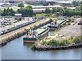 SJ8097 : Former Manchester Dry Dock, Trafford Wharf by David Dixon