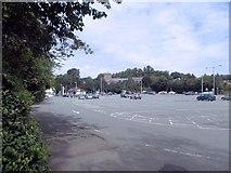 SJ2207 : Church Street car park from the canal by John Firth