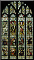TR0142 : North Transept, stained glass window, St Mary's church, Ashford by Julian P Guffogg