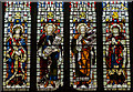 TR0142 : Detail, stained glass window, St Mary's church, Ashford by Julian P Guffogg