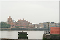 TQ3580 : View of apartments on The Highway from the Thames Path by Robert Lamb