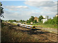TQ3468 : London Overground train passes Bromley Junction, from the Goat House bridge by Christopher Hilton