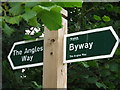 TM3788 : The Angles Way Footpath Sign by Keith Evans