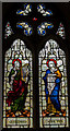 TQ8212 : Stained glass window, St Helen's church, Ore by Julian P Guffogg