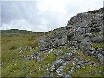 SH7942 : Rocky outcrop near Cefngarw by Richard Law